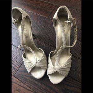 Dressy Crystal cream heels